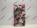 Picture of Smart Prime 7 Grey Floral Leather Wallet Case