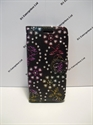 Picture of Galaxy S5 Black Floral Diamond Leather Wallet Case