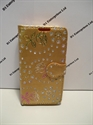 Picture of iPhone 5 Gold Floral Diamond Wallet Book Case