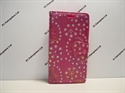 Picture of Xperia X Mini Pink Floral Diamond Leather Wallet Case.