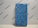 Picture of Xperia XZ Aqua Floral Diamond Leather Wallet Case.
