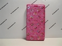 Picture of Xperia XZ Pink Floral Diamond Leather Wallet Case.