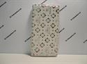 Picture of Xperia XZ White Floral Diamond Leather Wallet Case.