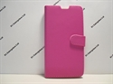 Picture of Xperia T3 Pink Leather Wallet Case.