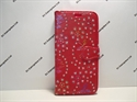 Picture of Samsung Galaxy S7 Edge Red Floral Diamond Leather Wallet Case