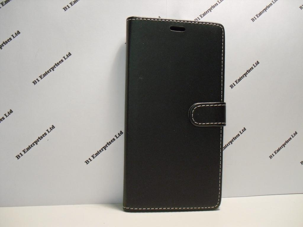 release date: 6f695 6ee15 Alcatel Pixi 4 6 inch 4G Black Leather Wallet Book Case| Huawei ...
