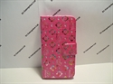 Picture of iPhone 6 Plus 5.5 Pink Floral Diamond Leather Wallet Case
