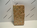 Picture of iPhone 6 Plus 5.5 Gold Floral Diamond Leather Wallet Case