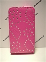 Picture of Nokia Lumia 620 Pink Glitter Leather Case