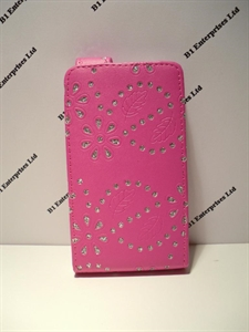 promo code ab3a2 bfe80 Nokia Lumia 635 Pink Glitter Leather Case| Huawei cases and covers ...