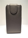 Picture of Samsung Galaxy Y Pro B5510 Black Leather Flip Case