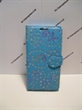 Picture of Huawei Y3 Aqua Floral Glitter Leather Wallet Style Case