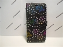 Picture of Huawei P Smart Black Floral Glitter Wallet Case