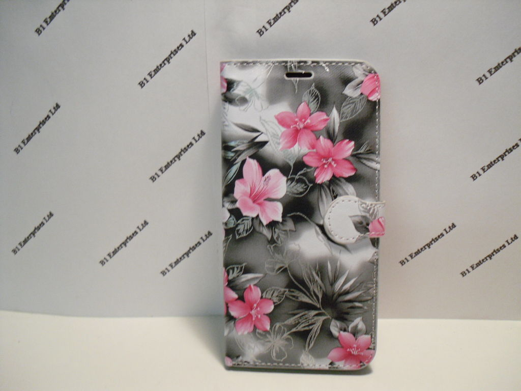 new styles 38359 d59cb Huawei Y7 Prime 2018 Grey Floral Wallet Case| Huawei cases and ...