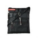 Picture of Black Zip Pocket Front Cross Body Pouch Bag With Shoulder Strap