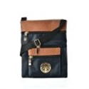 Picture of Navy Contrast Zip Front Cross Body Pouch Bag With Metal Logo