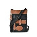 Picture of Black Contrast Zip Front Cross Body Pouch Bag