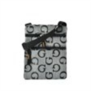 Picture of Grey Classic G Cross Body Pouch Bag With Zip Front