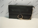 Picture of Wristlet Clutch Bag With Ring Detail Chain Black