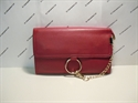 Picture of Wristlet Clutch Bag With Ring Detail Chain Red