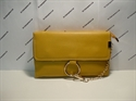 Picture of Wristlet Clutch Bag With Ring Detail Chain Yellow