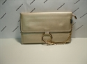 Picture of Wristlet Clutch Bag With Ring Detail Chain Beige
