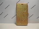 Picture of Huawei P20 Gold Glitter Floral Leather Wallet Case