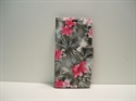 Picture of Huawei Y6 2019 Grey Floral Leather Wallet Case
